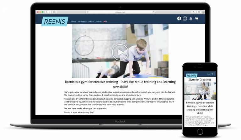 Screenshot reenis.fi
